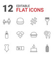 one icons vector image vector image