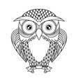 Owl sitting on branch vector image vector image