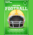 poster template of american football helmet vector image vector image