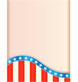 retro frame with american flag wave pattern vector image