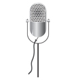 retro microphone icon isolated on white vector image