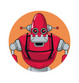 robot automation circle icon vector image