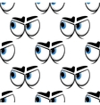 Seamless cartoon blue eyes pattern vector image vector image