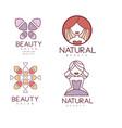 Set of geometric emblems for beauty center