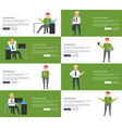 successful businessman set of vector image vector image