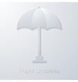 summer travel paper umbrella flat icon vector image