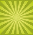 sunburst pattern with green color palette vector image