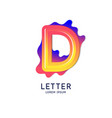 the letter d latin alphabet display vector image