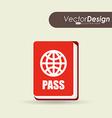 travel flat icon design vector image vector image