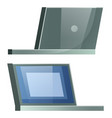 two sides view on electronic device laptop vector image vector image