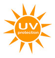 uv protection logo and icon on white background vector image vector image