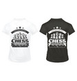 vintage chess prints on shirts template vector image