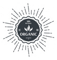 vintage style label for organic food and drink vector image vector image
