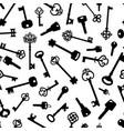 vntage and modern keys decorative pattern vector image vector image