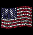 waving american flag stylization of component vector image vector image
