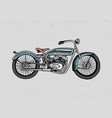 motorcycle or motorbike engraved vector image