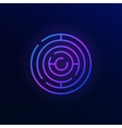 Round maze colorful icon vector image