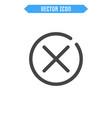 close icon delete icon vector image