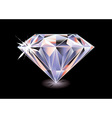 cut diamond vector image