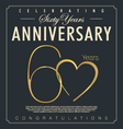 60 years Anniversary background vector image vector image