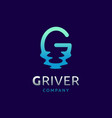 Abstract water letter g logo design