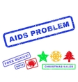 AIDS Problem Rubber Stamp vector image vector image
