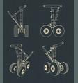 airplane landing gear drawings vector image vector image