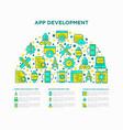 app development concept in half circle vector image vector image