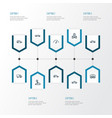 auto outline icons set collection of chronometer vector image vector image