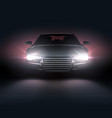 automobile with headlights vector image vector image