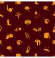 autumn icons orange seamless pattern eps10 vector image vector image