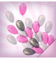 balloon background pink vector image vector image