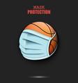 basketball ball with a protection mask