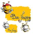Bee Happy vector image
