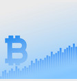 bitcoins growth chart business background vector image vector image