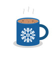 christmas drink hot coffee hot chocolate flat vector image