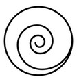 circle spiral icon outline style vector image