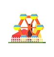 City Amusement Park vector image