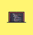 code on the screen laptop vector image vector image