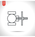 color flat valve icon vector image