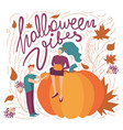 colorful halloween vibes vector image vector image