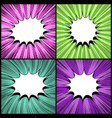 comic colorful backgrounds set vector image