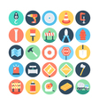 Construction Colored Icons 1 vector image vector image