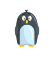 cute little funny penguin chick character vector image vector image