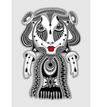 cute ornate doodle fantasy monster vector image