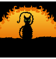 decorative black cat vector image
