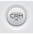 Desktop CRM System Icon Grey Button Design vector image vector image