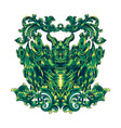 devil head mascot logo design vector image vector image