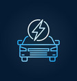 electric car with lightning creative ev vector image vector image