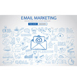 Email Marketing with Doodle design style sending vector image vector image